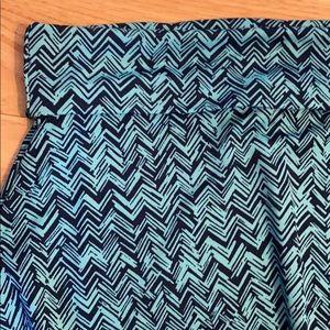 LuLaRoe Skirts - Navy and electric blue skirt